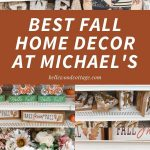 """A collage of colorful fall home décor pictures with the words, """"Best Home Décor at Michael's""""."""