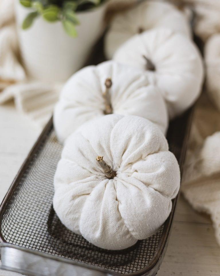DIY Drop Cloth Pumpkins